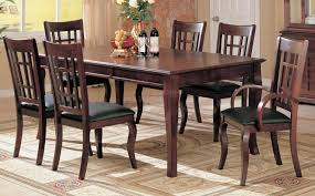 jofran maryland counter height storage dining table amazon com 7pc formal dining table chairs set rich cherry finish