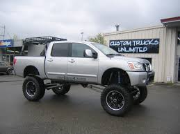 lifted silver nissan frontier new lift kit nissan titan forum