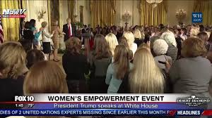 watch president trump speaks at women u0027s empowerment event at