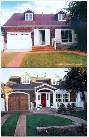 before and after home exteriors brick porch arch mirror and