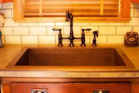 kitchen beautiful copper kitchen sink undermount with brown