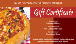 restaurant gift cards italian restaurant gift certificate templates easy to use gift