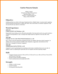 Retail Cashier Resume Sample Resume For Cashiers Position Application Letter For A Cashier