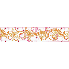 Wallpaper Border Designs Shop York Wallcoverings 6 75 In Multicolor With Glitter Prepasted