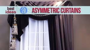 window curtains design u2013 modern asymmetrical ideas for living
