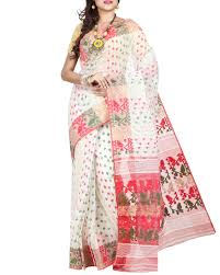 dhakai jamdani sarees shop dhakai jamdani saree in white with jamdani work from