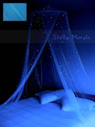 glow in star canopy surround your bed with stars