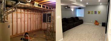 Ideas For Finished Basement Finish Basement Home Theater Before And After Pictures
