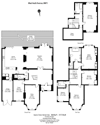 Floor Plan Scale Calculator by West Heath Avenue Heath Houses Hampstead Glentree New Homes