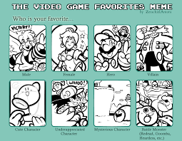 Meme Video Game - james s video game favorites meme by jamesmantheregenold on deviantart