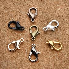 silver necklace clasp images 50pcs pack necklace clasps alloy bronze gunblack gold rose gold jpg