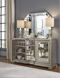 furniture fantastic mirrored buffet for bedroom design with wall