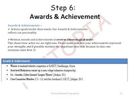 resume achievements for freshers resume ideas