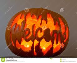 welcome halloween jack o lantern pumpkin stock photo image 67237916