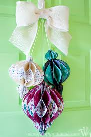 diy paper ornament wreath a houseful of handmade