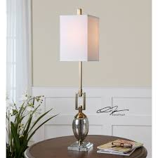 uttermost 29338 1 copeland 1 light buffet lamp in speckled mercury