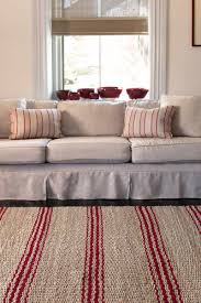 thin area rugs red u0026 tan striped jute rugs dash u0026 albert jute ticking crimson