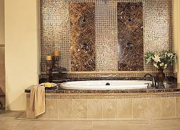 Bronze Faucets For Bathroom by Luxury Classic Bathroom Mosaic Wall Tile Art With Bronze Faucets