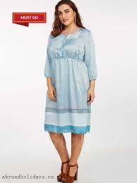 extremely fashion blue plusee plus size printed day dress women u0027s