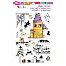 spooky house halloween papiria stampendous perfectly clear halloween stamps spooky house