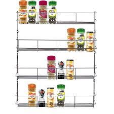 Kitchen Cabinet Door Spice Rack by Livivo Chrome 4 Tier Spice Herb Jar Rack Holder For Home Kitchen