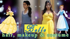 halloween costumes belle beauty beast princess belle tutorial makeup hair halloween 2015