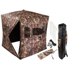 camouflage portable ground hunting tent stealth deer hunting and