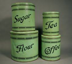 funky kitchen canisters marbled enamel kitchen canisters green white 1 vintage