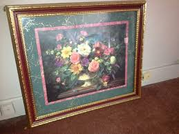 floral home interior framed hanging picture nex tech classifieds