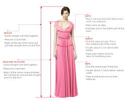 size charts for bridesmaids dresses