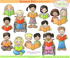 picture of little kids reading book clipart clip art library