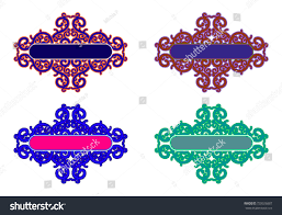 sakha ornamented banner text template vector stock vector