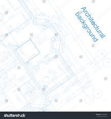 detailed architectural plan vector blueprint abstract stock vector