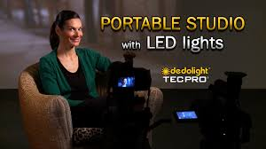 led studio lighting kit dedolight portable studio led lighting kits youtube