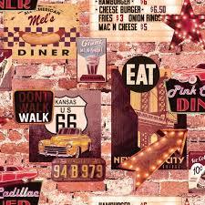 american wallpaper arthouse wallpaper american diner at wilko com