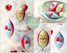 pdf pattern deer pattern kawaii felt ornament pattern