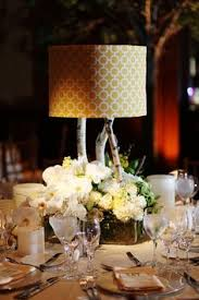 Lamp Centerpieces For Weddings by Black White Lampshade Centerpieces I Made For My Wedding And The