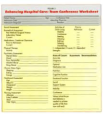 Daily Living Skills Worksheets Interdisciplinary Care Effect In Acute Hospital Setting