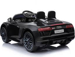 audi supercar black new shape licensed audi r8 spyder 12v children u0027s electric ride on