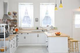 White Breakfast Bar Table Kitchen Wooden Laminate Flooring White Decorative Wallboard