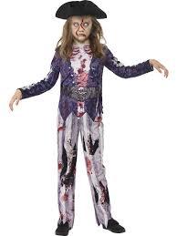 Girls Halloween Pirate Costume Halloween Deluxe Jolly Rotten Zombie Pirate Costume Kids Fancy Dress