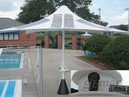 Solar Patio Umbrella Solar Patio Umbrella Lights Up The Night Treehugger