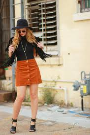 spring boho outfit upbeat soles orlando florida style blog orlando florida fashion blog styles madison berkely bodysuit with corduroy button up skirt black