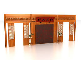 chinese room divider wall 3d model 3ds max files free download