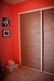 Cloth Closet Doors Grass Cloth Covered Closet Doors Eclectic Home Office Los