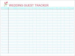 Wedding Invitation Excel Template 28 Free Wedding Guest List Template Excel Guest List Template