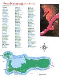Grand Cayman Islands Map Diving