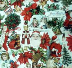 country christmas wrapping paper vintage christmas gift wrap roll christmas wrapping