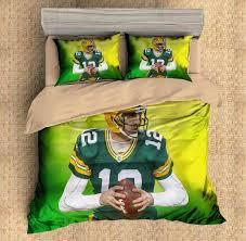 Green Bay Packers Bedding Set 3d Customize Aaron Rodgers Green Bay Packers Bedding Set Duvet