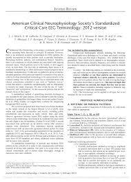 american clinical neurophysiology society u0027s standardized critical